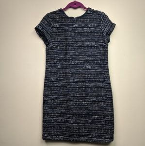 BANANA REPUBLIC Blue dress in Tweed Size 2